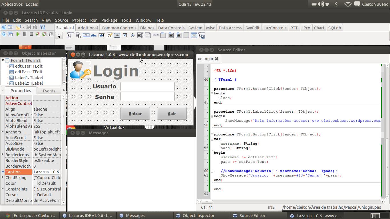 ProgLoginLazarusLinux