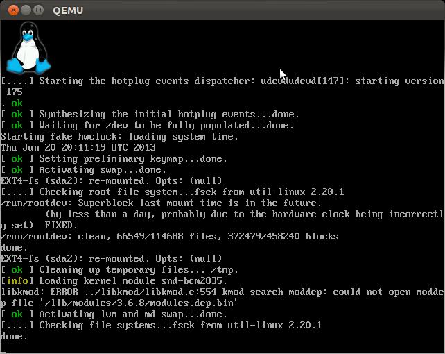 Qemu-raspberry-boot2